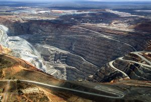 Kalgoorlie Super Pit  From the AIr