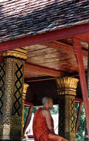 Lao Monk at Prayer