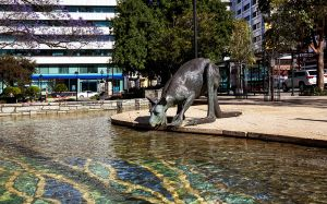 Kangaroo Statues in the CBD area of Perth.