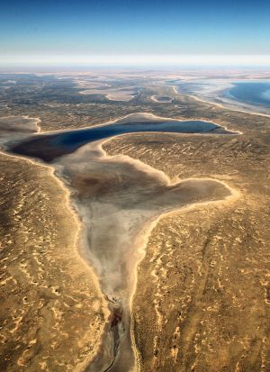 Aerial View of Lake Eyre SA