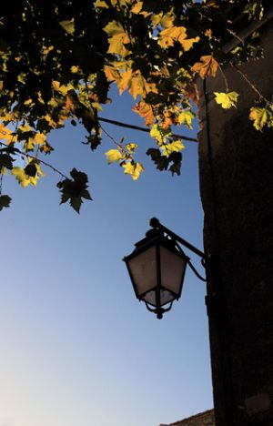 Autumn Lamp St Etienne De Sortes on Rhone River