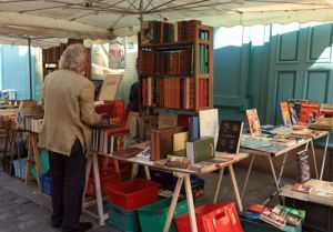 Bookstall in Centre of Old  Dijon