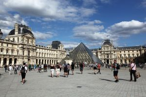 Louvre and Grande Pyramide