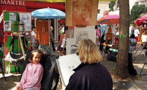 Portrait Artist  at Montmartre Artists