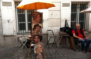 Montmartre,Populated with portrait painters and artists
