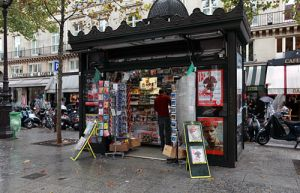 Paris Newspaper Kiosk