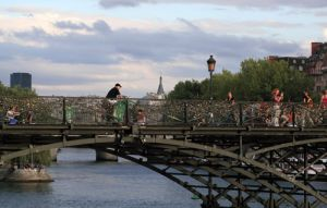 Pont Des Artes is a Pedestrian Bridge across the Seine River