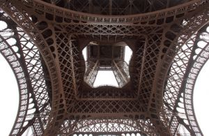 View into Eiffel Tower