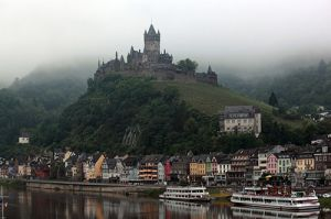 Reichburg Castle From The Mosel River