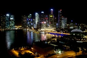 Modern Singpore At Night