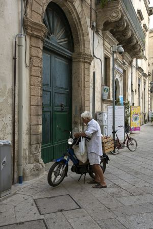 Older Resident of Lecce Italy