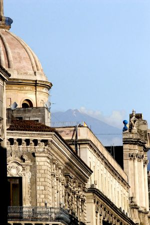 Glimpse of Etna From Catania